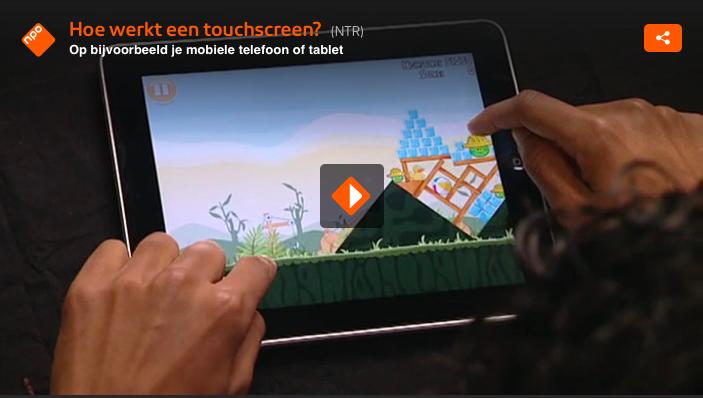 Hoe werkt een touchscreen?